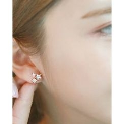 Miss21 Korea - Rhinestone Star Stud Earrings