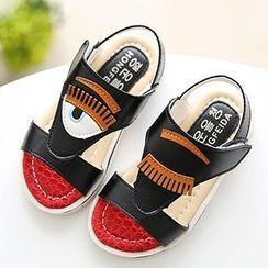 綠豆蛙童鞋 - 小童貼布繡涼鞋
