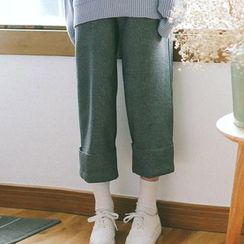 TREEZIN - Cropped Wide-Leg Pants
