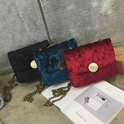 Rosanna Bags - Velvet Chain Strap Crossbody Bag
