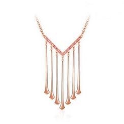Italina - Swarovski Elements Fringed Necklace