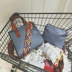 Beloved Bags - 套裝: 仿皮手提袋 + 肩包