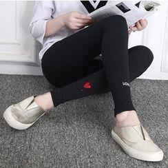 della molla - Embroidered Leggings