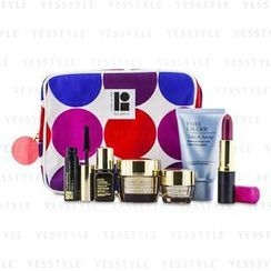 Estee Lauder - Travel Set: Makeup Remover 30ml + Revitalizing Supreme Creme 15ml + Eye Balm 5ml + ANR II 7ml + Mascara 2.8ml + Lipstick #88 3.8g + Bag
