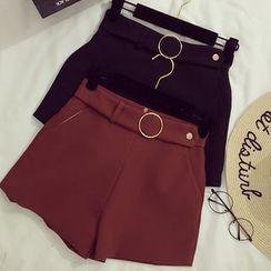 Honeydew - Plain Shorts with Belt