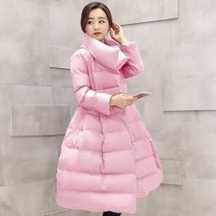 Romantica - Padded A-Line Long Coat