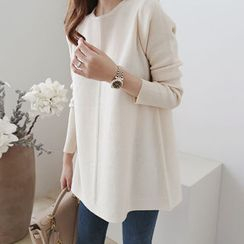 DAILY LOOK - Seam-Front Wool Blend Knit Top