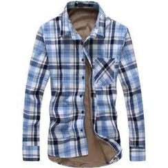 Alvicio - Fleece-Lined Plaid Shirt