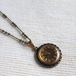 MyLittleThing - Copper Gold Little Clock Necklace
