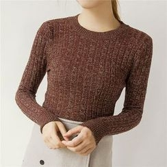 Honey House - Melange Cable Knit Sweater