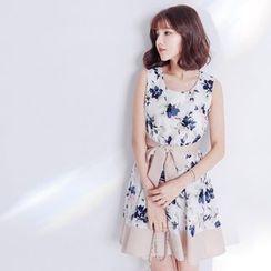 Tokyo Fashion - Floral Print Sleeveless Dress