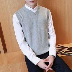 Danjieshi - V-Neck Knit Vest