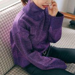 PPGIRL - Turtle-Neck Knit Top