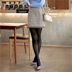 CHICLINE - Patterned Mini Skirt