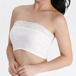 Don Han - Lace Trim Bandeau
