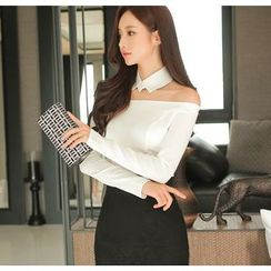 Gl.bY - Off-Shoulder Long-Sleeve Top