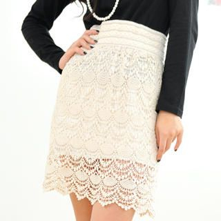 59 Seconds - Crochet-Lace Skirt