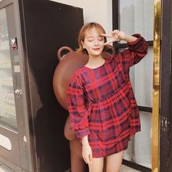 Eva Fashion - Plaid Long-Sleeve Top