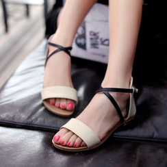 Shoes Galore - Cross-strap Sandals