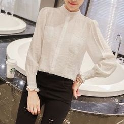EFO - Frilled-Cuff Blouse