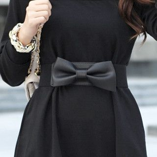 Elasticized Bow Belt