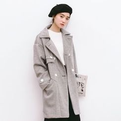 Porta - Double-breasted Wool Coat