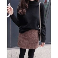 maybe-baby - Mock-Neck Wool Blend Sweater