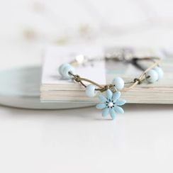 Porcelana - Beaded Flower Bracelet