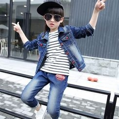 Princess House - Kids Set:  Denim Jacket + Jeans