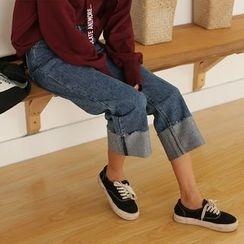 HotBlock - Cropped Wide Leg Jeans