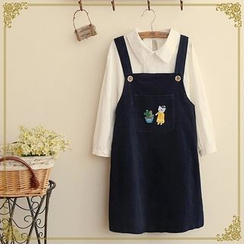 Fairyland - Cat Embroidered Jumper Skirt