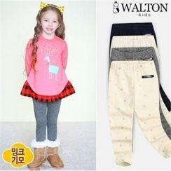 WALTON kids - Kids Brushed-Fleece Leggings