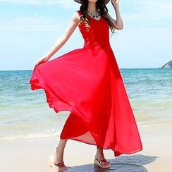 Sirene - 无袖雪纺太阳裙