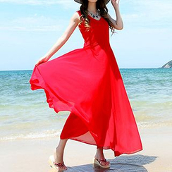 Sirene - 無袖雪紡太陽裙