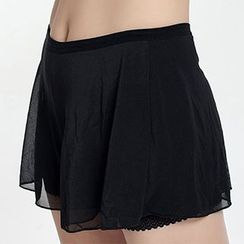 camikiss - Mesh Overlay Under Shorts