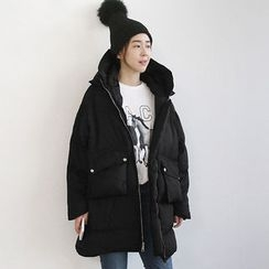 NANING9 - Hood Zip-Up Thick Padded Coat