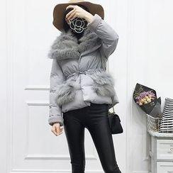 Be Bonita - Furry-Trim Puffer Jacket