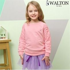 WALTON kids - Girls Set: Sweatshirt + Inset Tulle Mini Skirt Leggings