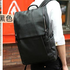 Yiku - Faux Leather Backpack