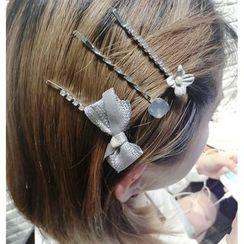 umi aoi - Set of 3: Rhinestone Hair Pin
