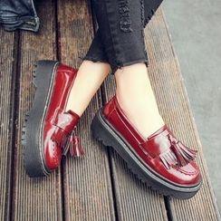 Anran - Tassel Platform Loafers