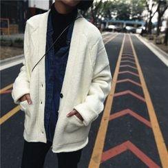 DOUX - 飾口袋針織開衫