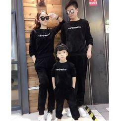 Tabla - Family Matching Set: Lettering Sweatshirt + Sweatpants