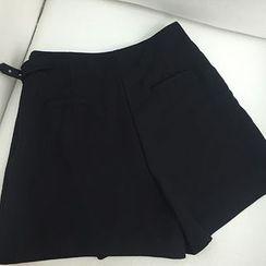 MATO - Plain High-Waist Shorts