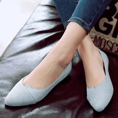 Gizmal Boots - 纯色平跟鞋
