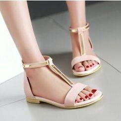 Tomma - Cuffed Flat Sandals