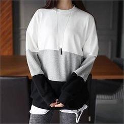 CHICFOX - Color-Block Sweatshirt