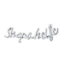MBLife.com - Left Right Accessory - 'Shopaholic' 925 Sterling Silver Playful Word Single Earring, Women Fashion Jewelry