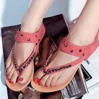 77Queen - Studded Thong Sandals