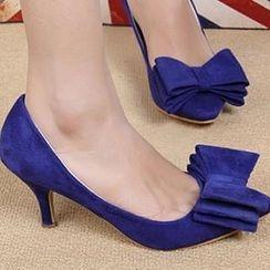 ZDJ Footwear - Bow-Accent Pumps